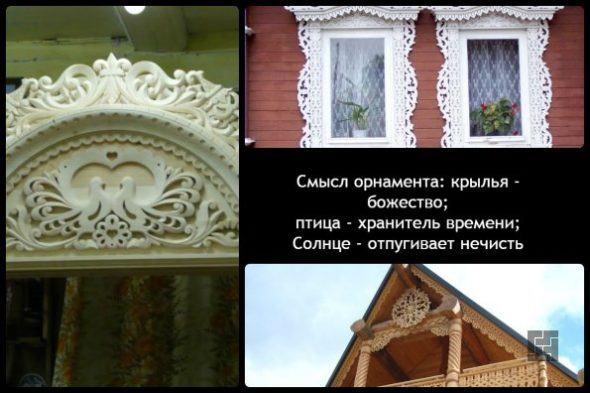 Наличники на окнах в деревянном доме