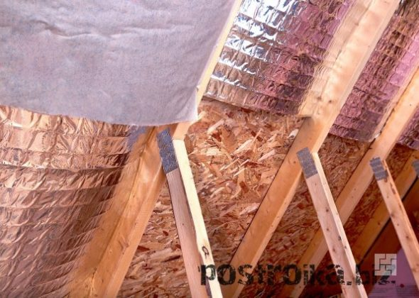 Укладка пароизоляции на крыше