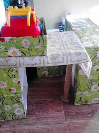 Декорирование стойки столешницы и её фиксация