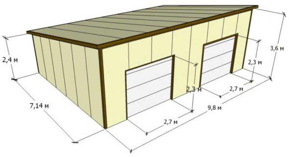 Построить гараж на 2 машины своими руками печка дизельная для гаража купить в