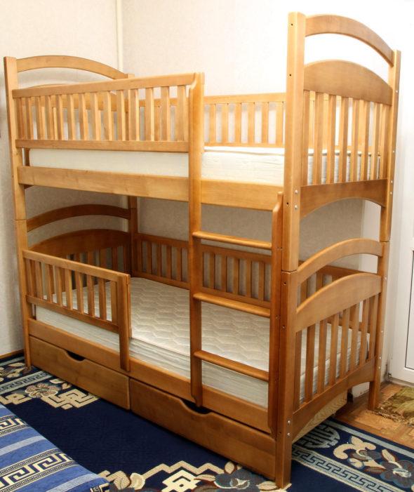 Разборная двухъярусная кровать