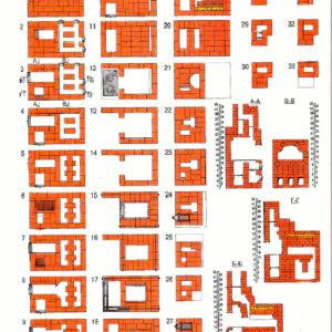 Схема кладки русской печи 3