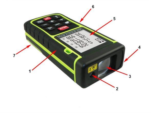Устройство лазерной рулетки