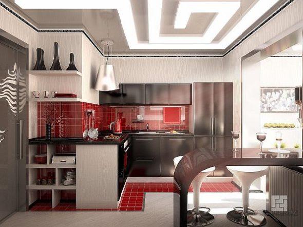 Просторная кухня