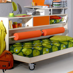 Выдвижная кровать с подиумом