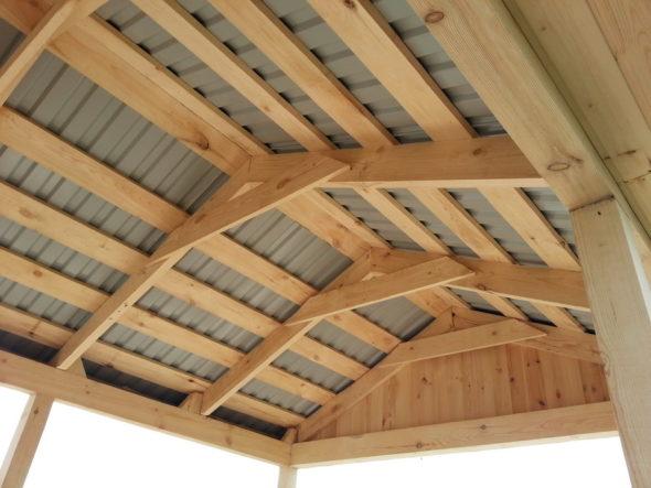 Деревянный каркас крыши