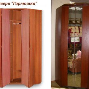 Двери-гармошка у встроенного балконного шкафа