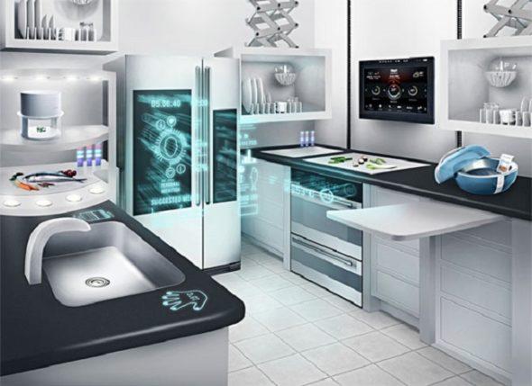 Хай-тек в интерьере кухни