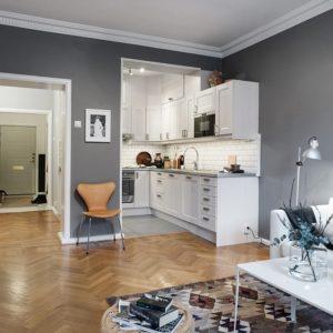 Интерьер квартиры в скандинавской стилистике