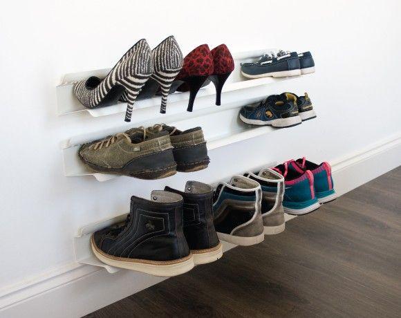 Обувная полка из металлического профиля