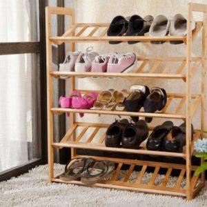 Стеллаж для обуви из деревянных реек