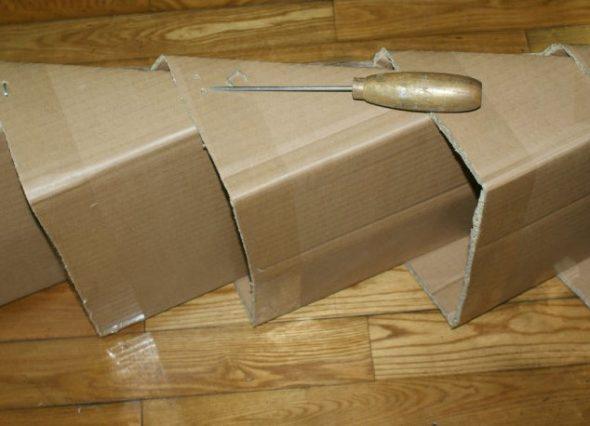 Полка из картона своими руками