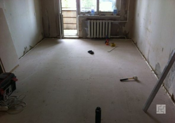 Подготовка бетонного основания перед укладкой ламината