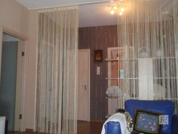 шторы являются отличным инструментом для зонирования
