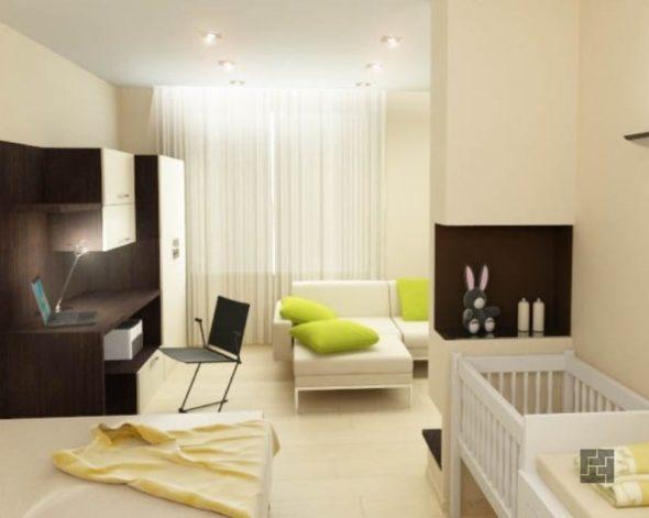 зонирование однокомнатной квартиры, где проживает ребенок
