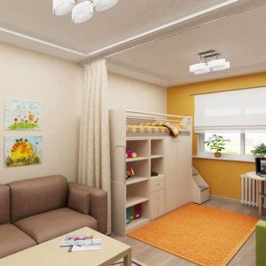 Разделение детской комнаты