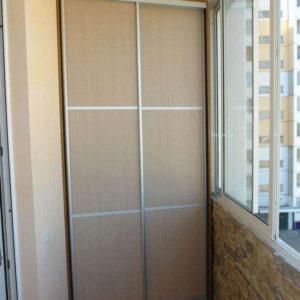 Балконный шкаф с раздвижными дверями