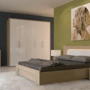 Спальня модерн в оливково-серых тонах