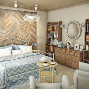 Спальня в традиционном скандинавском стиле
