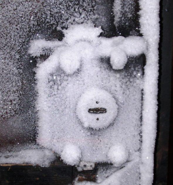 Замерзшие ворота