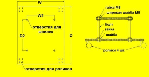 Схема подставки