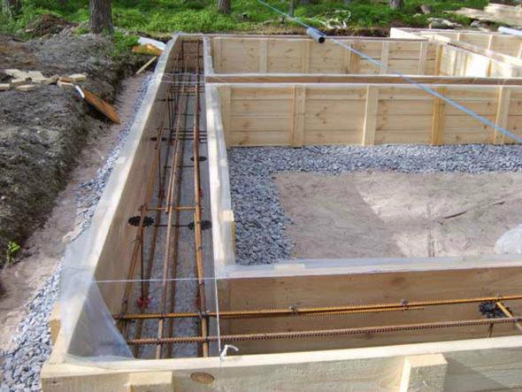 Этап создания фундамента плавающая решетка