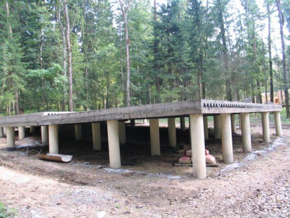 Конструкция свайно плитного фундамента