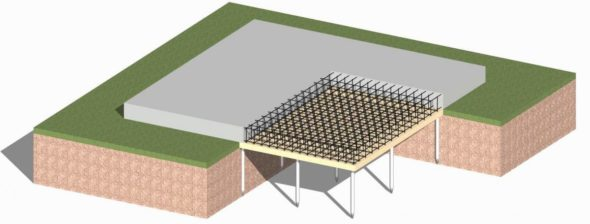 Схема устройства свайно-монолитного фундамента