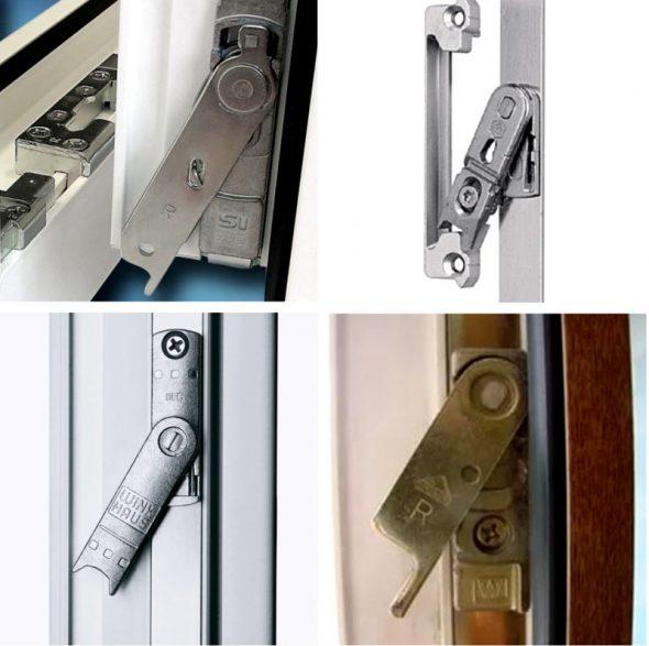 Варианты блокираторов ручки окна