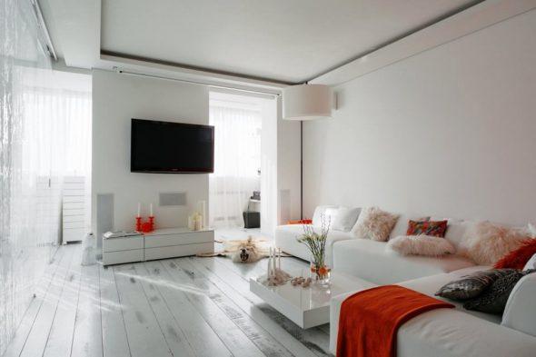 Небольшая гостиная в стиле минимализм