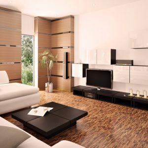 Бежево-коричневый интерьер в стиле минимализм