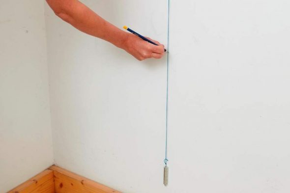 Нанесение вертикальной линии
