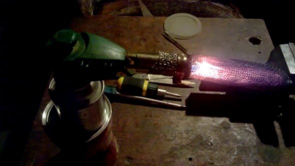 Вариант газового ИК обогревателя