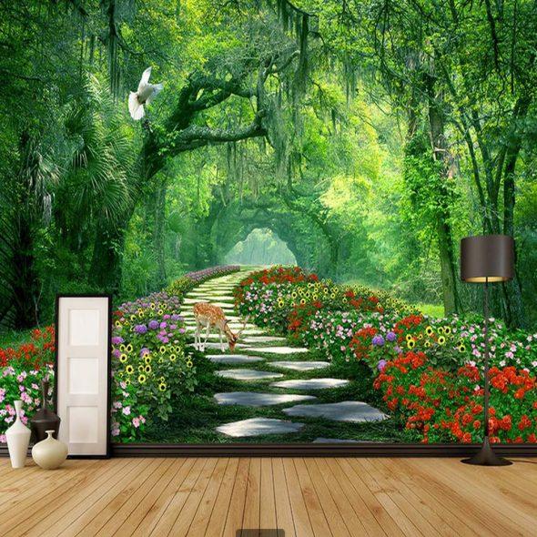 3D обои с изображением пейзажа