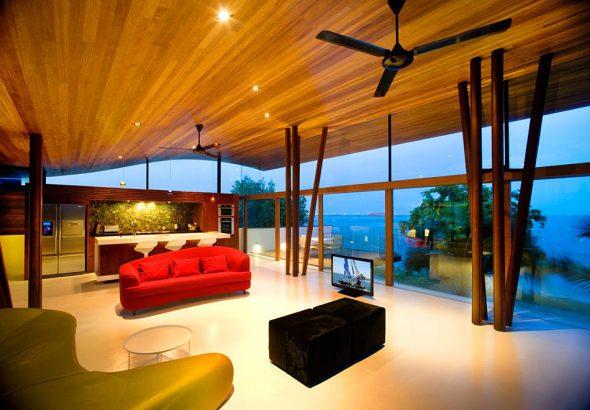 Интерьер дома Fish House в Сингапуре