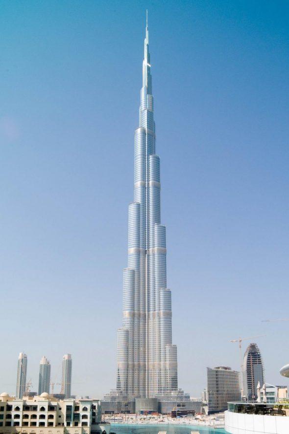 Башня Бypдж-Хaлифа в Дубае, ОАЭ