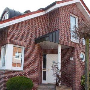Фасад дома из клинкерных панелей