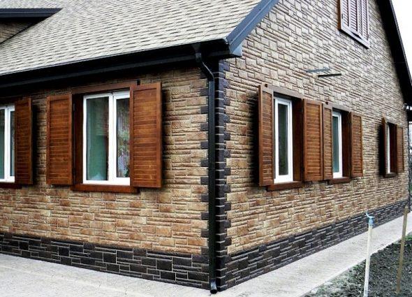 Наружная отделка дома фасадными панелями