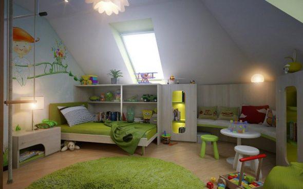 Детская комната в мансарде