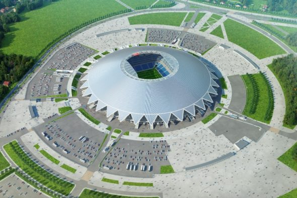 Стадион Самара Арена, вид свержу