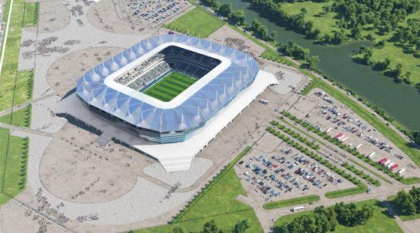 Стадион Калининград, вид сверху