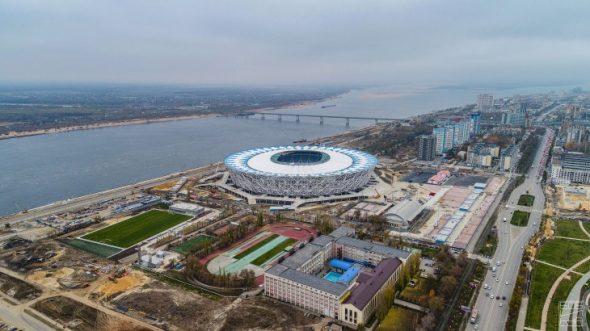 Вид на стадион Волгоград Арена