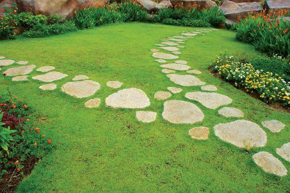 Дизайн садовой дорожки из камней