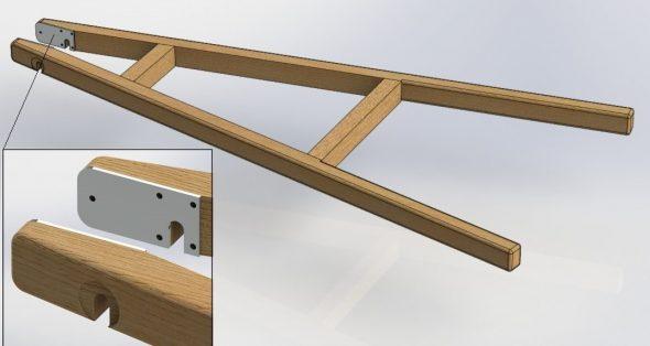 Изготовление несущей рамы для деревянной тачки