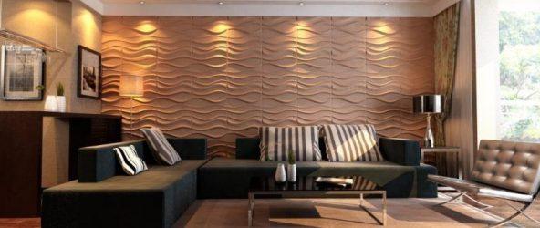 Дизайн гостиной со стеновыми панелями