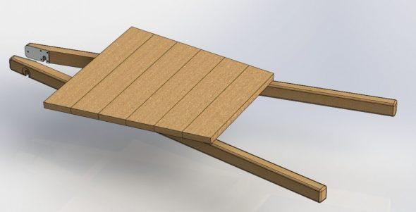 Основание деревянной тележки