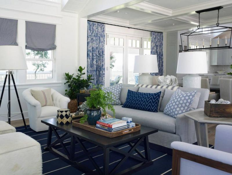 30 идей интерьера загородного дома в морском стиле