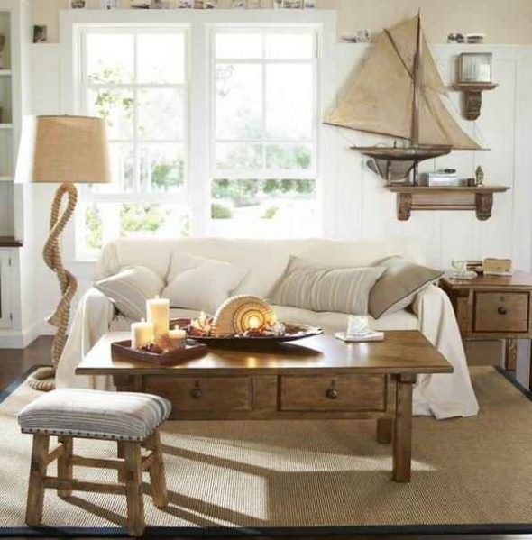 Морской стиль в интерьере загородного дома