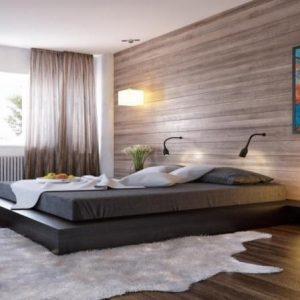 Стеновые панели под дерево для отделки спальни