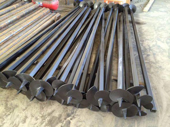 Винтовые стальные сваи